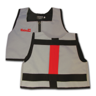 Silver and Red Kinderlift Stability Vest
