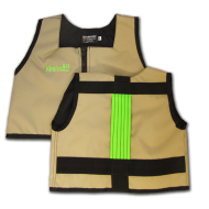 Khaki and Lime Green Kinderlift Stability Vest